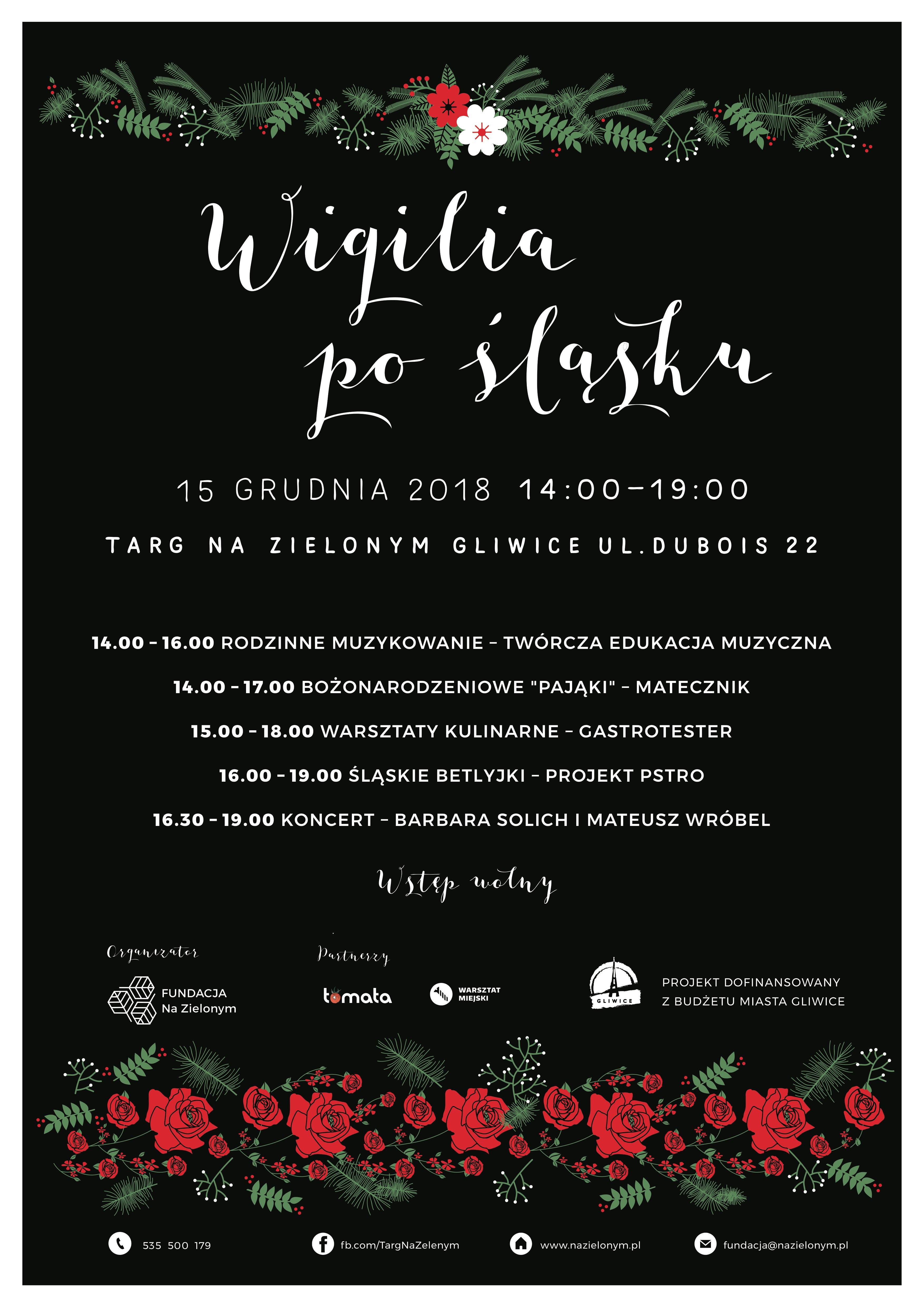 Wigilia Po śląsku Fundacja Na Zielonym